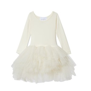 ILovePlum Long Sleeve Tutu Dress in Catherine Cream