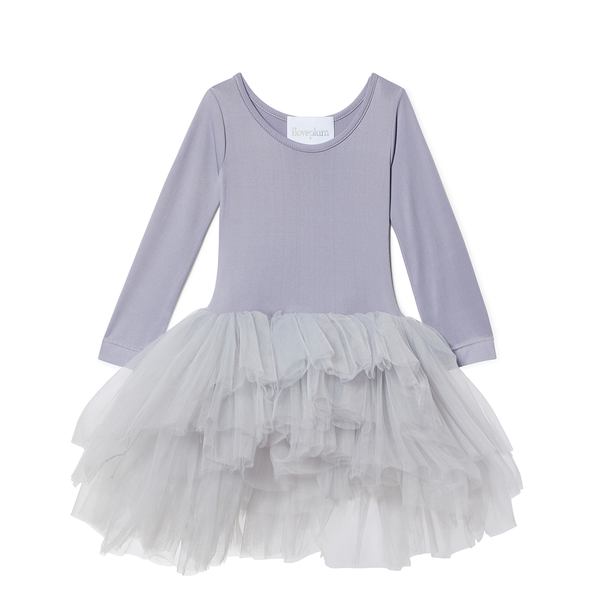 ILovePlum Long Sleeve Tutu Dress in Meghan Purple
