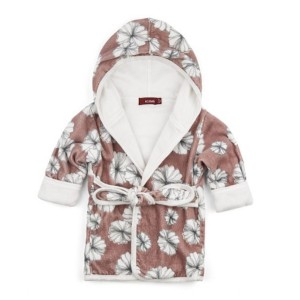 Milkbarn Hooded Bathrobe in Rose Floral