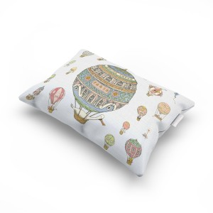 Atelier Choux Cushion Pillow in Hot Air Balloons Print