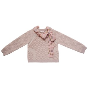 Atelier Choux Knitted Sweater in Pale Rose