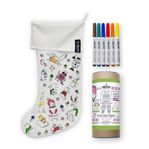 Selfie Clothing Co Color-In Christmas Stocking