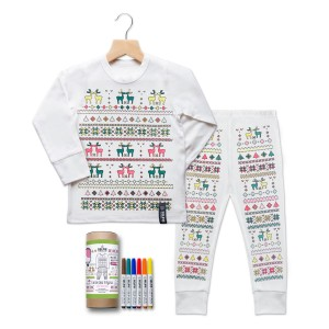 Selfie Clothing Co Color-In Pajamas in Fair Isle
