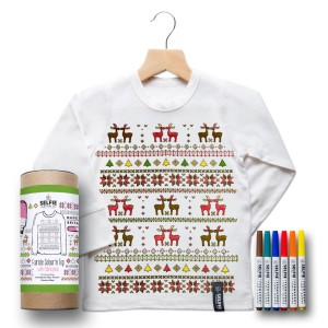 Selfie Clothing Co Color-In Tee in Fair Isle