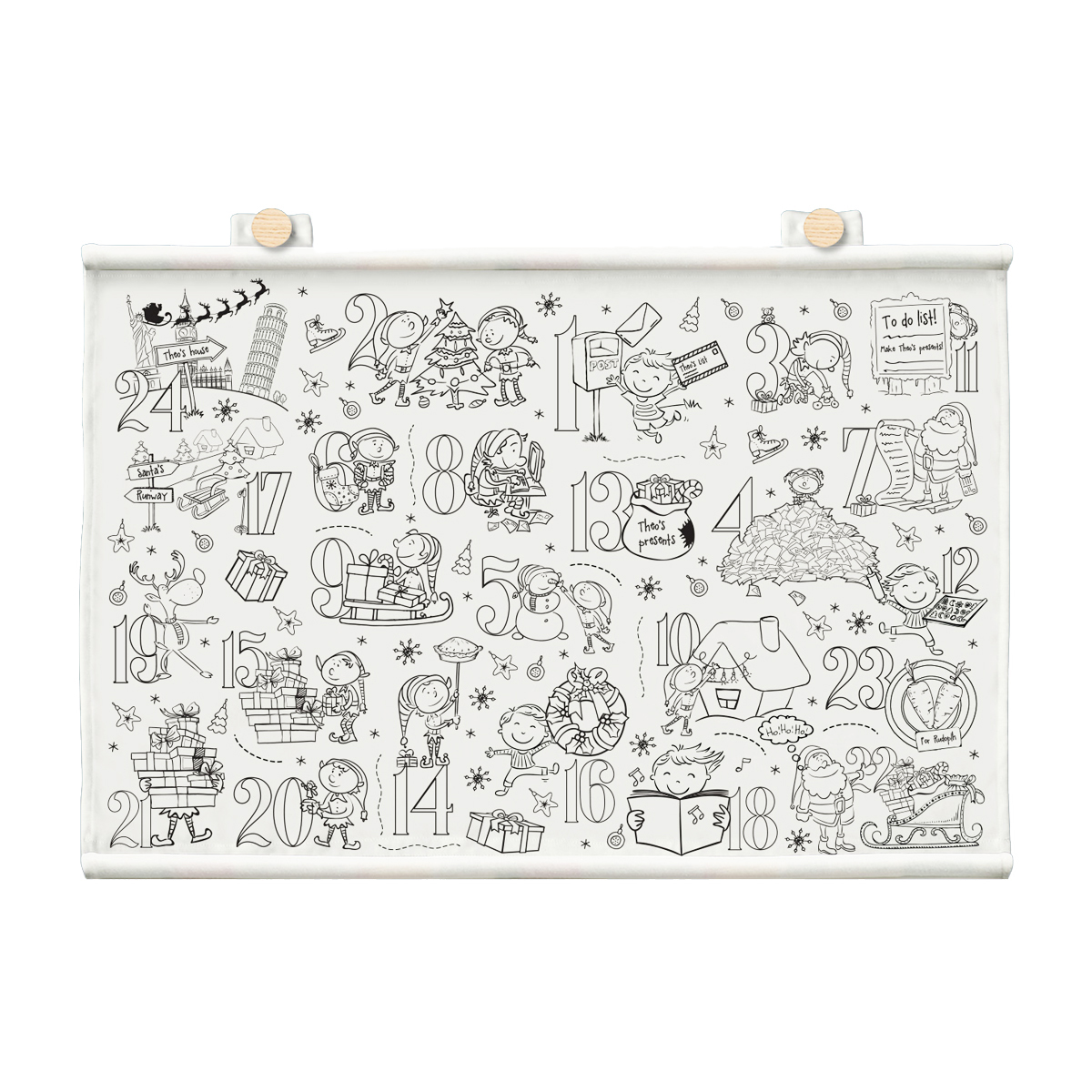 Selfie Clothing Co. Color-In Advent Calendar