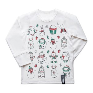 Selfie Clothing Co. Color-In Top in Cutesy Christmas