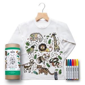 Selfie Clothing Co. Color-In Top in Jungle