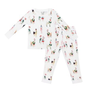 Hart & Land Toddler Pima Cotton Pajamas in Festive Llamas Print