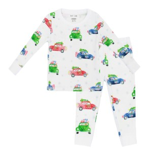 Hart & Land Kid Pima Cotton Pajamas in Festive Cars Print