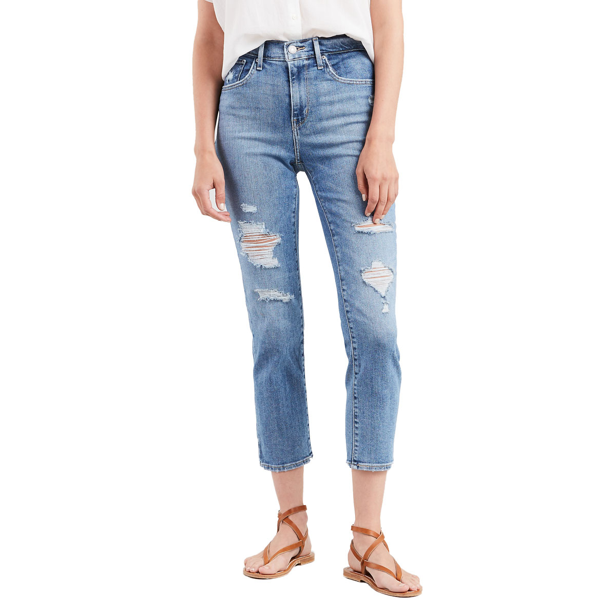 Levi's Women's 724 High Rise Straight Crop Denim Jean