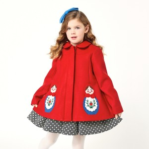 Little Goodall Red Matryoshka Coat on girl