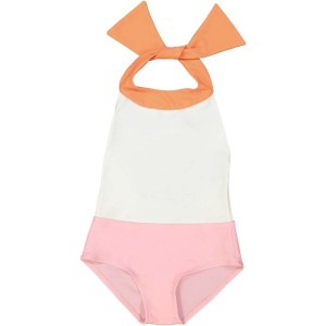 Canopea Thais One Piece Swimsuit in Apricot Ivory & Pink