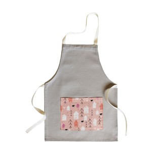 Tangerine Toys Linen Apron in Pink