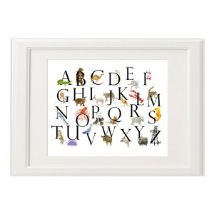 Peeps Paper Products Watercolor Animals Alphabet Print