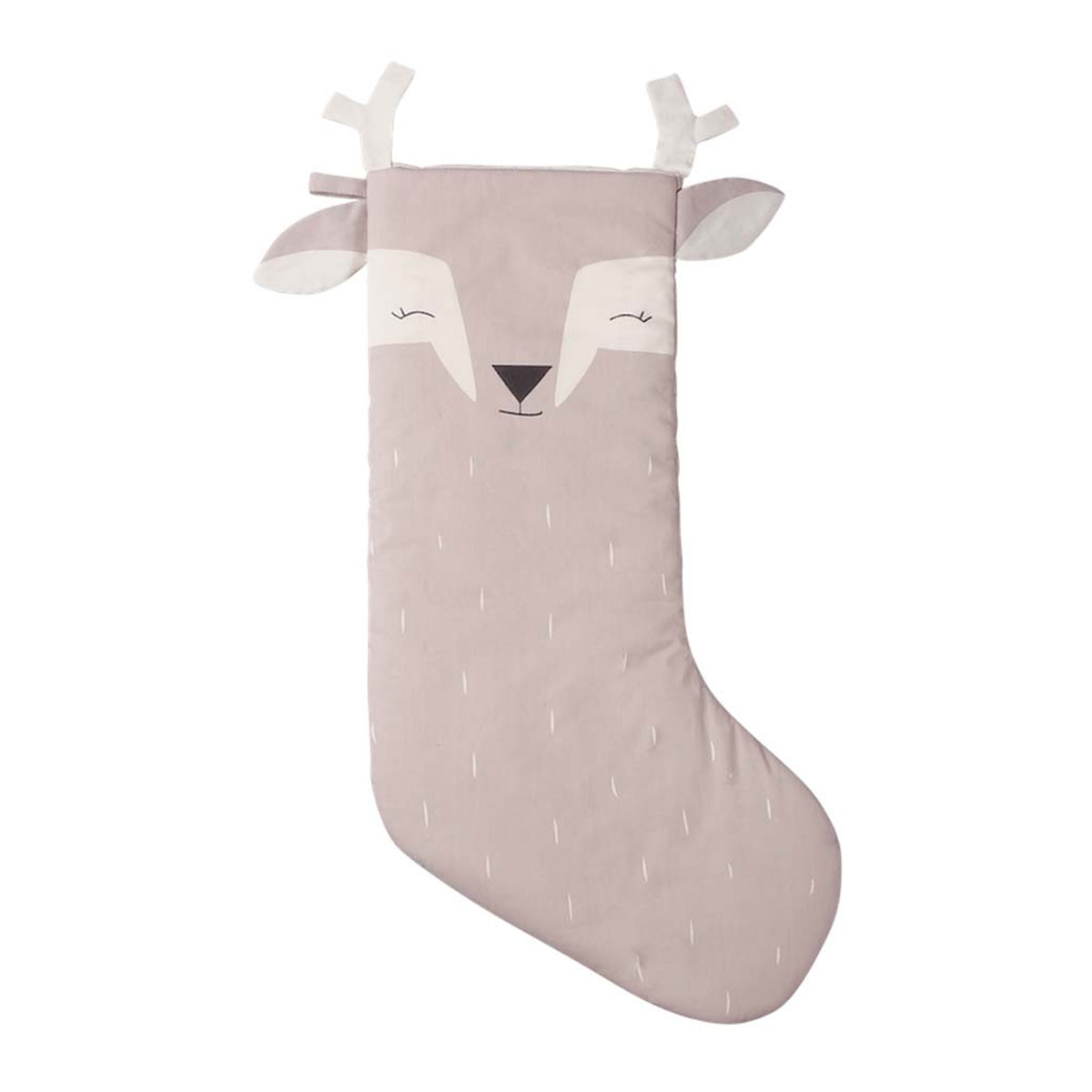 Fabelab Cotton Holiday Stocking in Lovely Deer