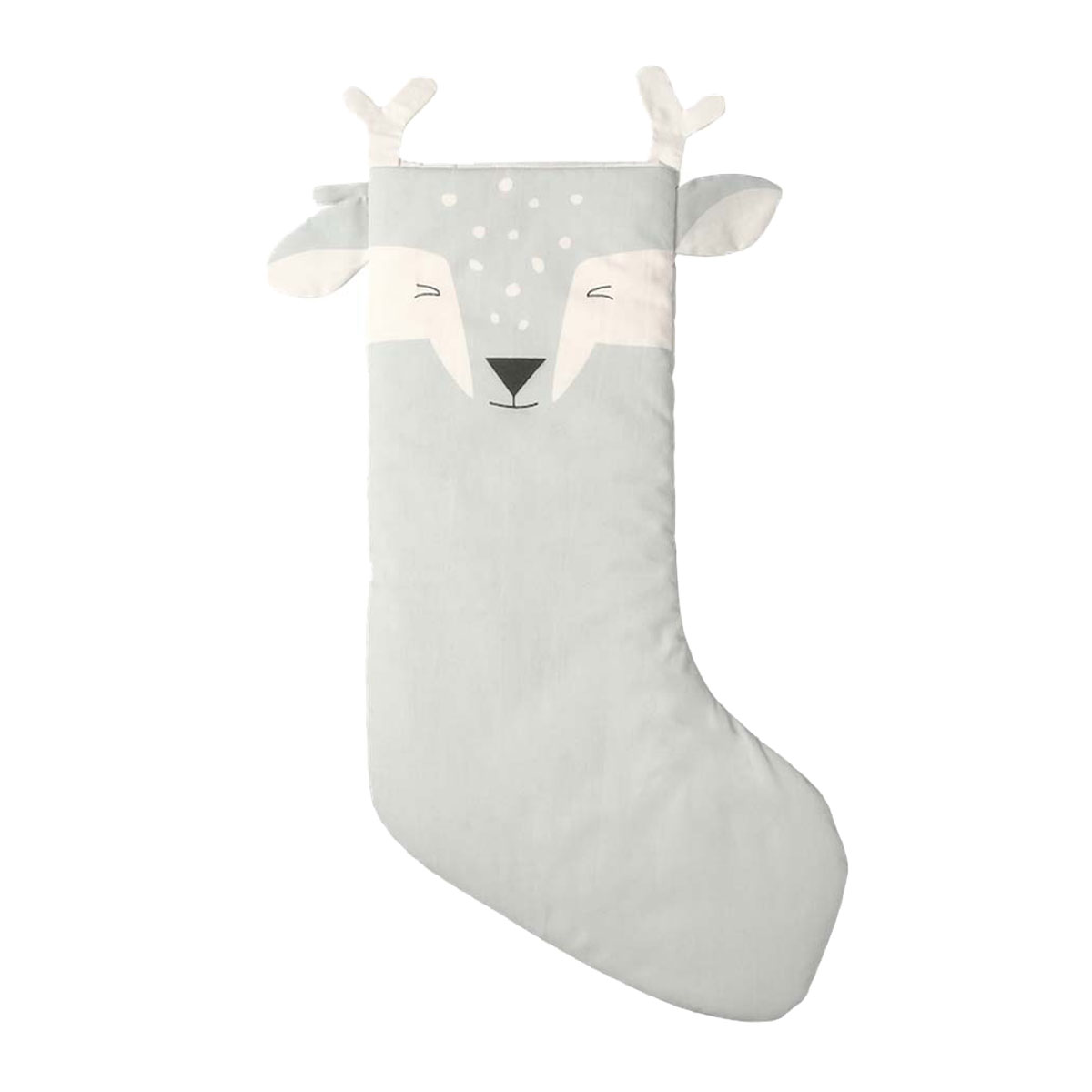 Fabelab Cotton Holiday Stocking in Sky Fawn