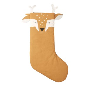 Fabelab Cotton Holiday Stocking in Silly Fawn