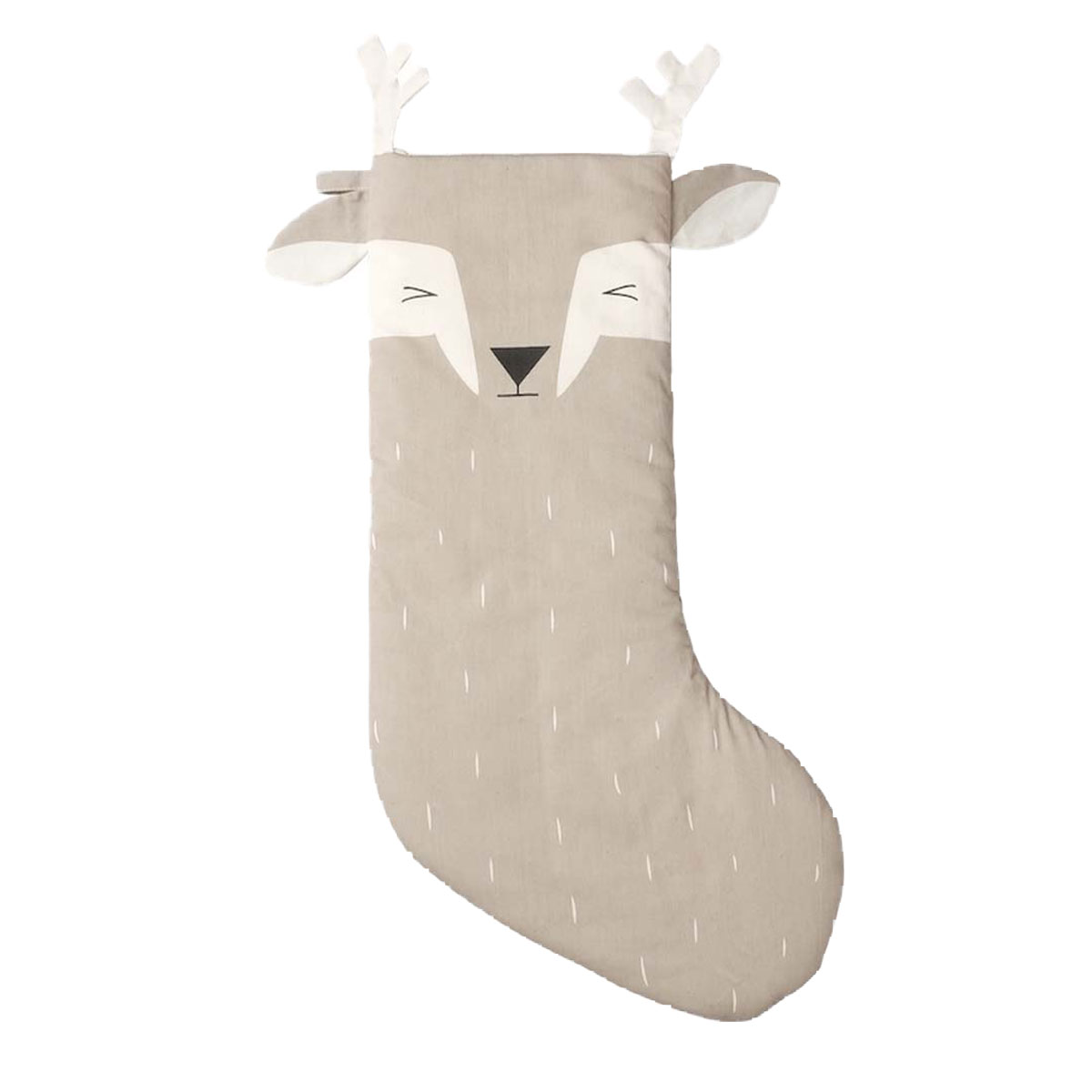 Fabelab Cotton Holiday Stocking in Sleepy Deer
