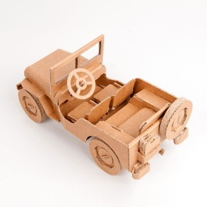 Leolandia Cardboard Off-Road Car Toy Kit