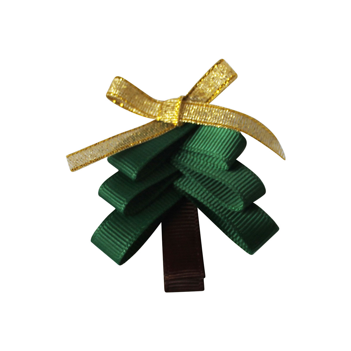 Milledeux Christmas Tree Shaped Hair Bow