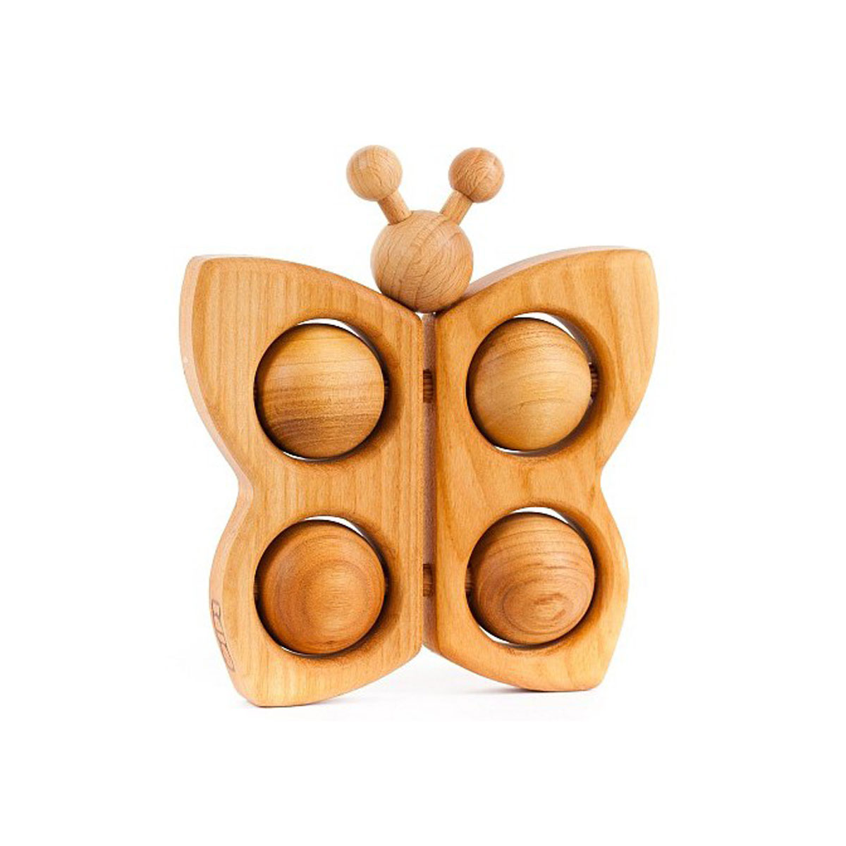 Bajo Wooden Butterfly-Shaped Rattle Toy