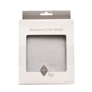Kyte Baby Bamboo Crib Sheet in Storm Grey