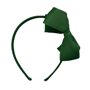 Milledeux Large Bow Headband in Green