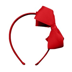 Milledeux Large Bow Headband in Red