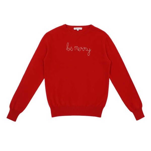 LinguaFrancaAW19SweaterAdultRedBeMerry