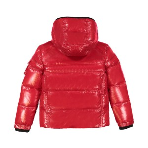 Sam NYC Nylon Racer Coat in Candy Red