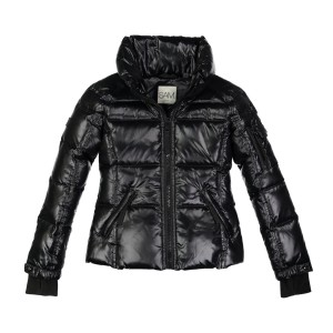 Sam NYC Girl's Nylon Freestyle Coat in Jet Black