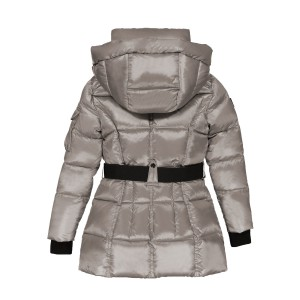Sam NYC Girl's Nylon Soho Coat in Platinum Grey