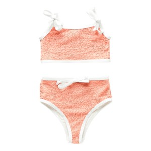 Zulu & Zephyr Two Piece Waisted Bikini in Coral
