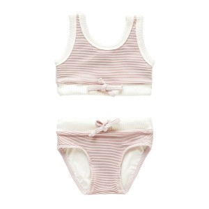 Zulu & Zephyr Two Piece Ribbed Bikini in Lilac
