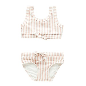 Zulu & Zephyr Two Piece Bikini in Lilac & White Stripe
