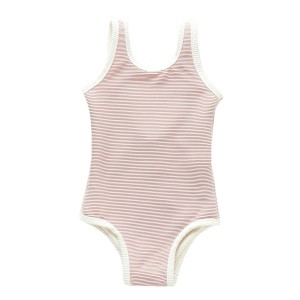 Zulu & Zephyr One Piece Ribbed Swimsuit in Lilac