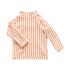 Zulu & Zephyr Long Sleeve Rashguard in Rust & White Stripe
