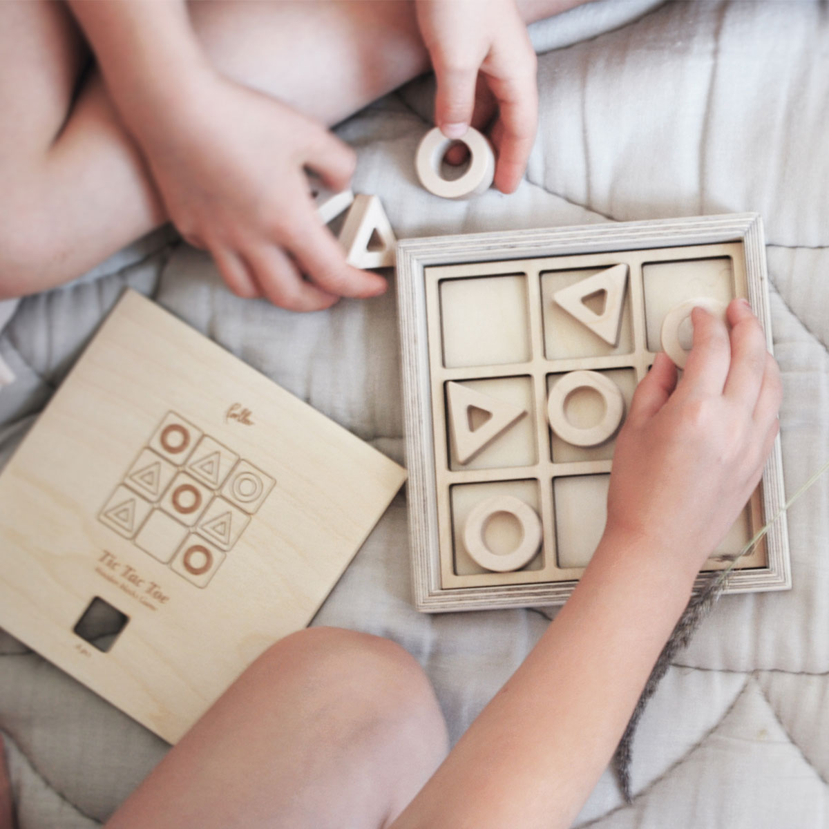 Loullou Tic Tac Toe Wooden Game