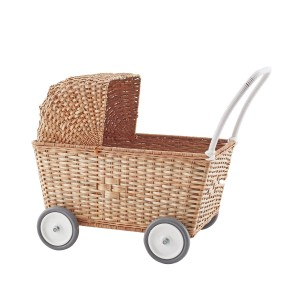 Olli Ella Strolley Wheeled Basket in Natural