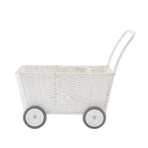 Olli Ella Strolley Wheeled Basket in White