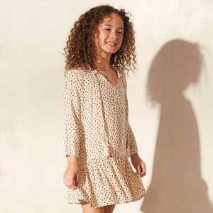 Cool Change Tunic Dress in Vanilla on girl
