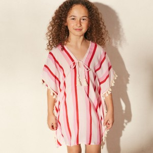 Cool Change Positana Tunic in Hibiscus Bora Bora Stripe
