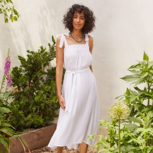 Cool Change Hadley Dress in White on woman