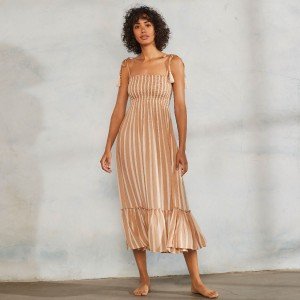 Cool Change Piper Dress in Cafe Stripe on Woman