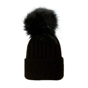 Bobble Babies Single Pom Beanie in Black