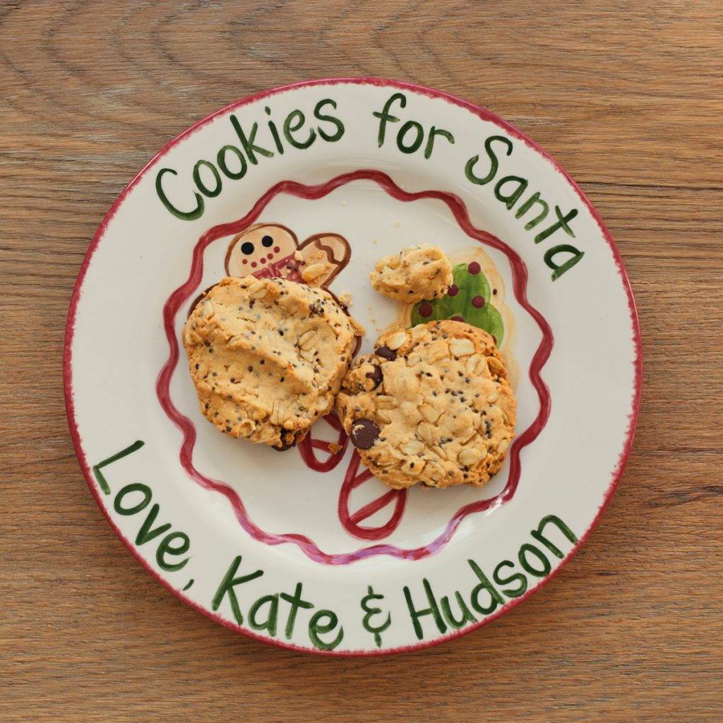 Caroline and Co Cookies for Santa plate