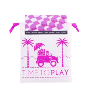 Les Jouets Libres Time To Play Checkers Set in Beach