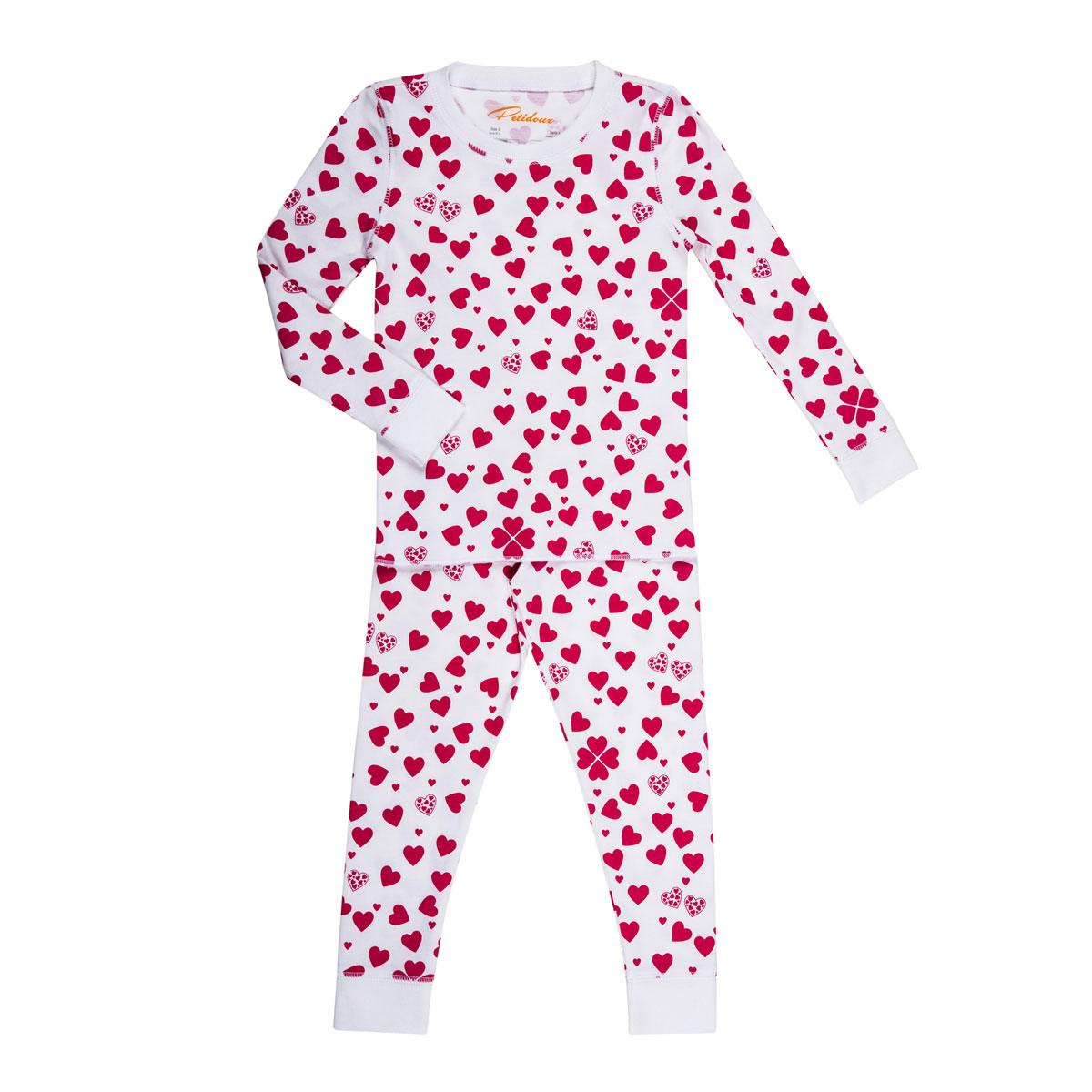 Petidoux Pajamas in Hearts