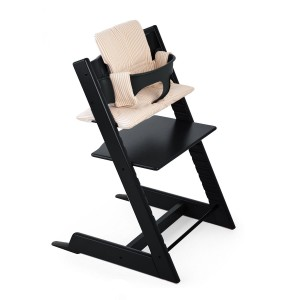 Stokke Tripp Trapp in Black with Beige Stripes Cushion