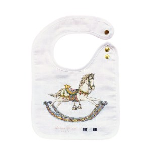 Atelier Choux x The Tot Exclusive Small bib with rocking horse print